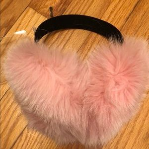 Accessories - Dyed Fox earmuffs with velvet band
